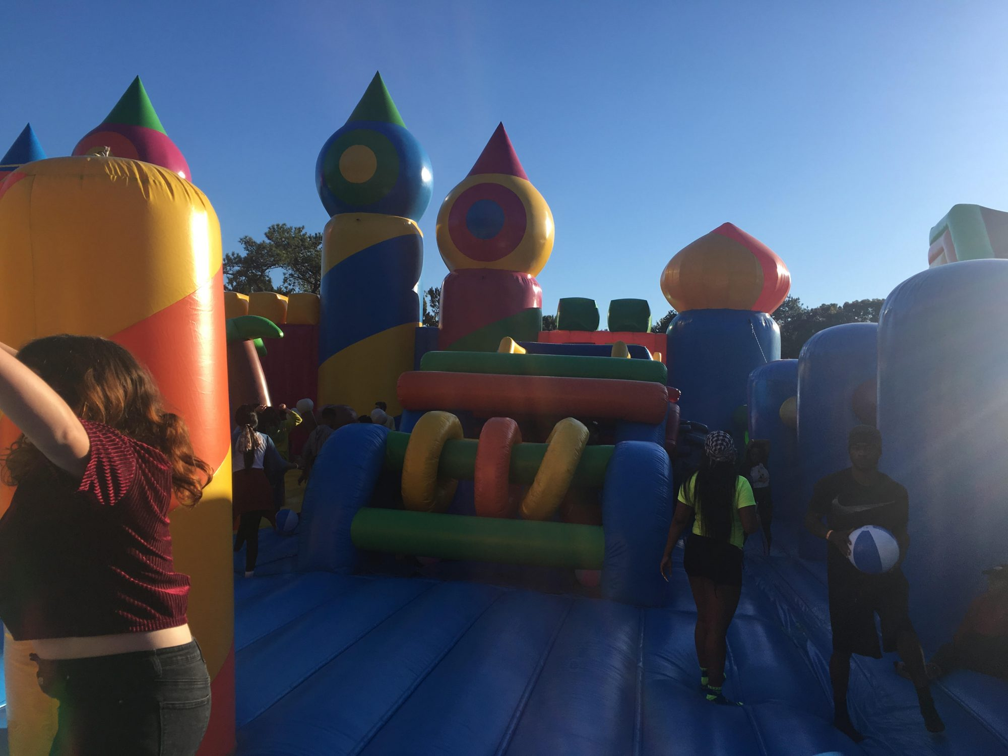 Tallahassee Students Hopped Back Into Childhood at World's Largest Bounce House